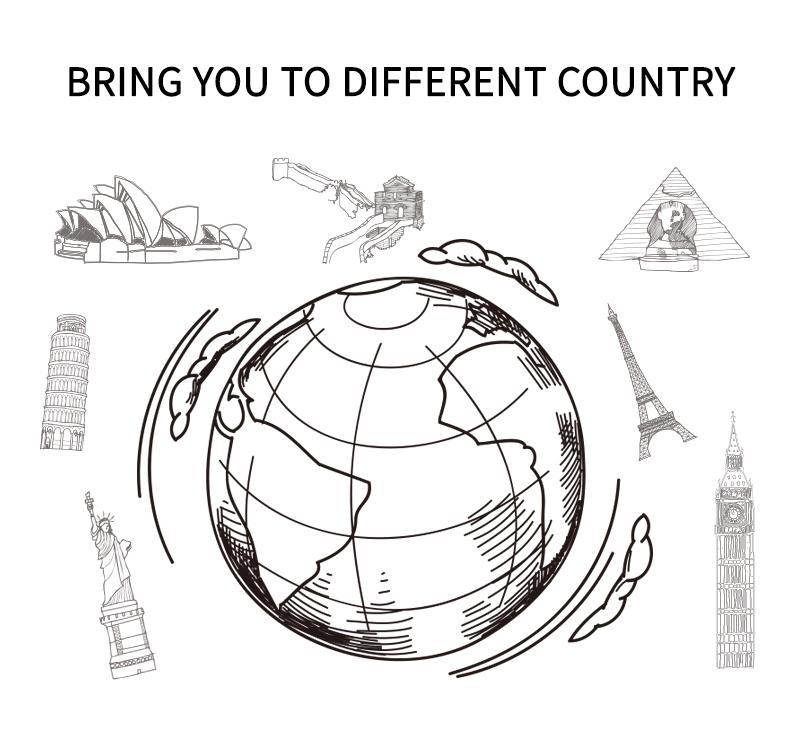 Customized Logo All In One Ac Dc Plug Converter World Usb Travel