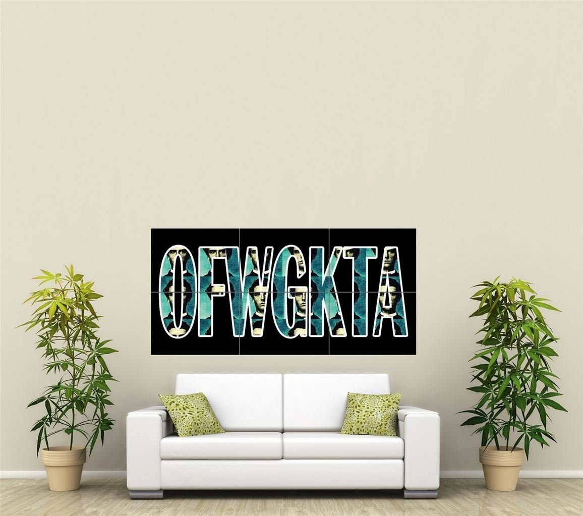 0f1ad39078dc Get Quotations · OFWGKTA ODD FUTURE WOLF GANG KILL THEM ALL HIP HOP MUSIC  CREW ODD FUTURE GIANT ART