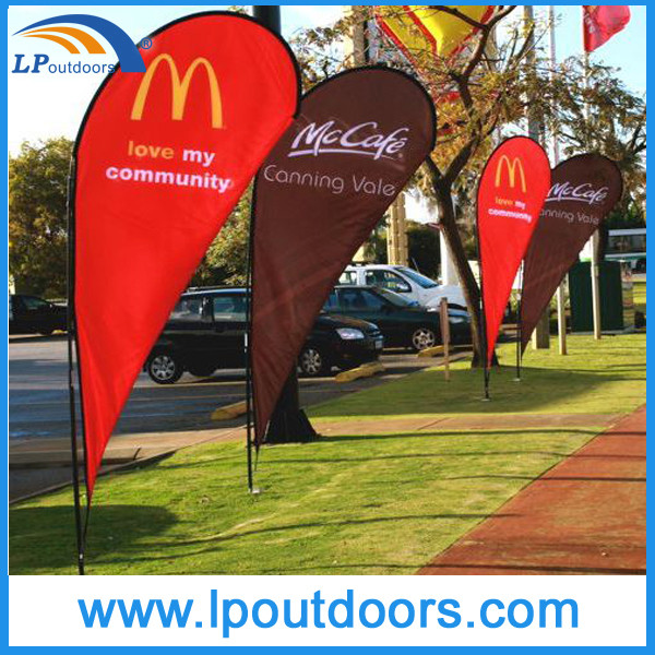 outdoor advertising custom cheap banner teardrop flag