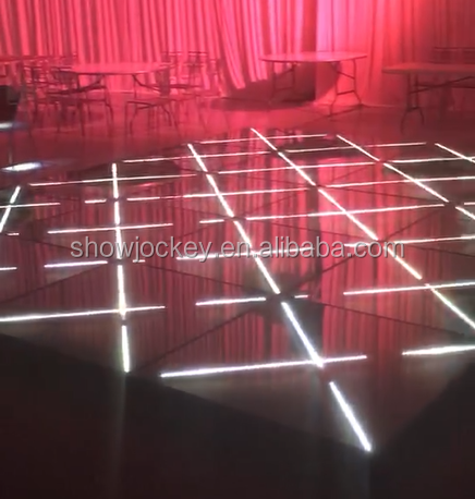 Wedding Party Tempered Glass Panel Colorful 3d Portable RGB Led Dance Floor Panels 3D Dance Floor for sale