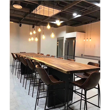 Industrial Modern Style Furniture Solid Black Walnut Slab Wood Table Live  Edge Slab Table Top For