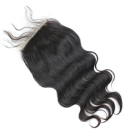 Raw brazilian virgin hair cuticle aligned human hair 6x6 swiss transparent lace closure