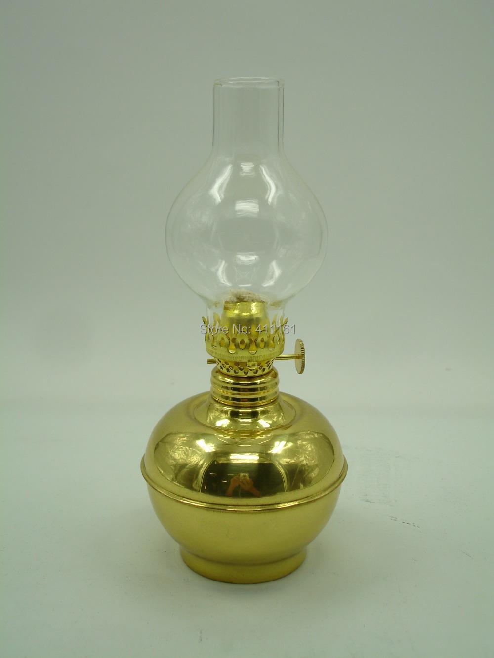 Deluxe Brass Evening Lamp Antique Brass Oil Lamp Lighting