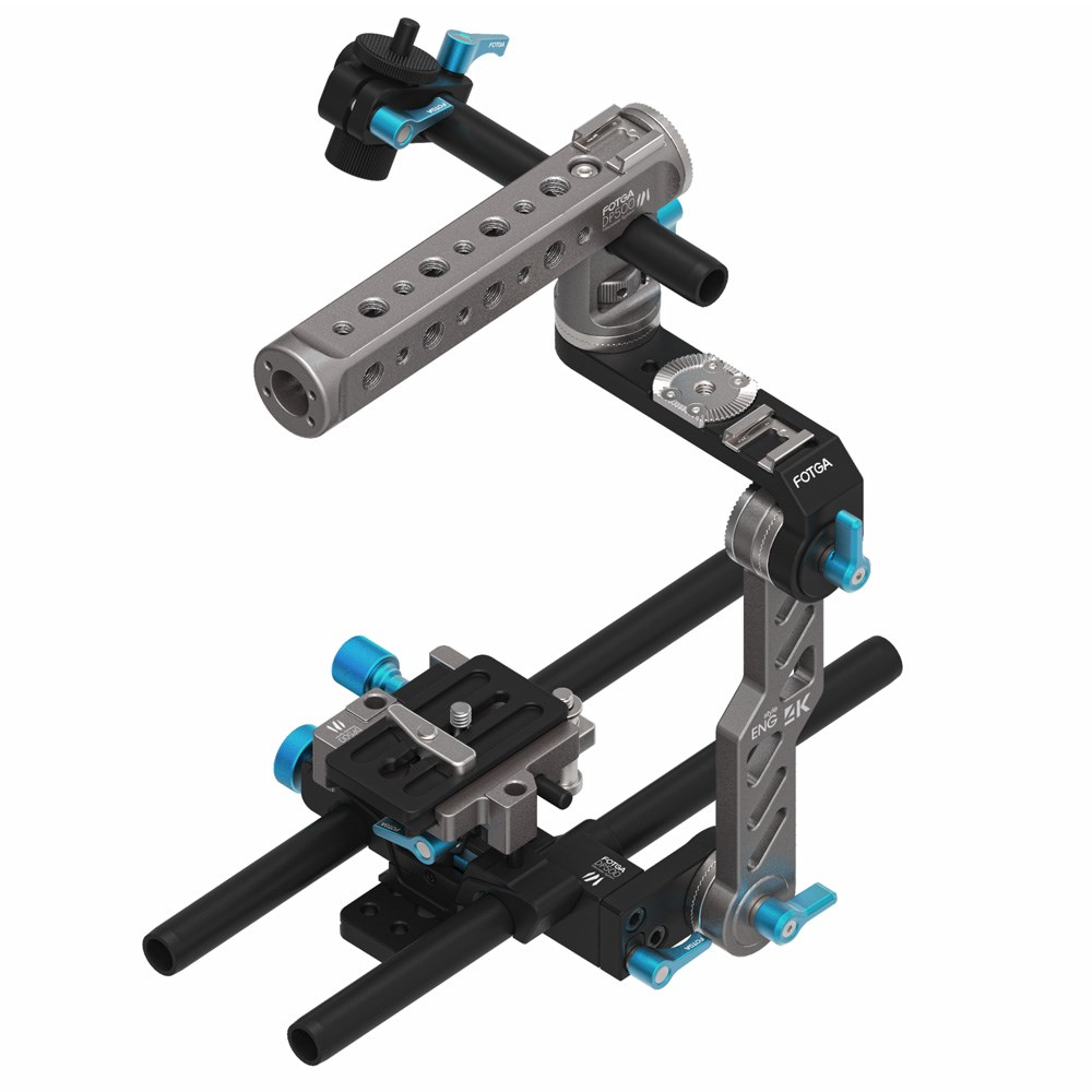 FOTGA DP500 MARK III DP500III Multi-functional ENG style 15mm Rail Base Plate Top Handle Bracket Cage Hand Grip Shoulder Pad Rig