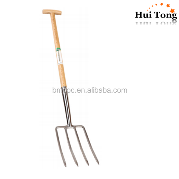 HTXL free sample T-grip hand tools garden fork