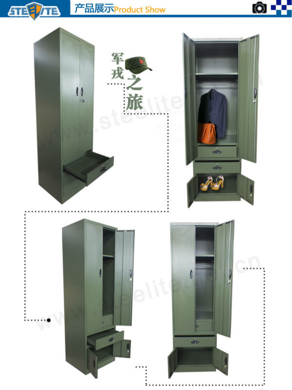 steel metal locker/ military wardrobe furniture/ metal cabinet army