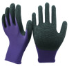 NMSHIELD firm grip work gloves cotton lined latex gloves glass handling gloves