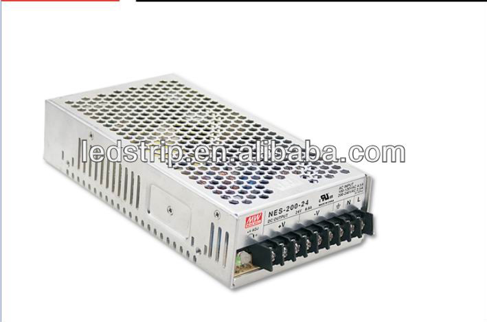 MW 8.8A 24V 200W NES-200 Non waterproof 24v led driver power supply