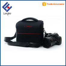 China manufacturer new stylish shoulder bag camera, fashion cheap custom logo camera bag with mesh pockets