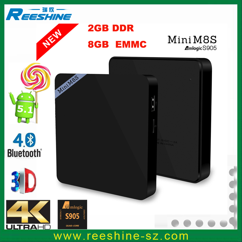 new arrical mini m8s android tv box 2gb ram s905 android smart tv box m95