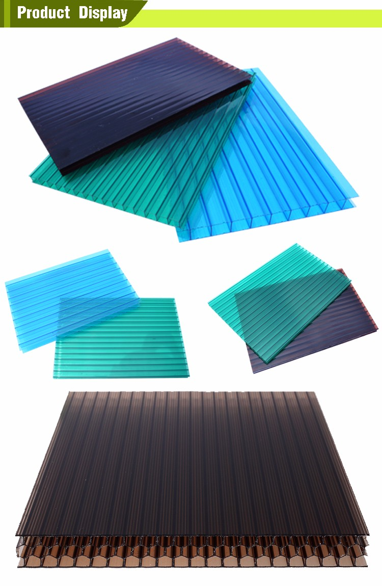 2wall 3wall 4wall 5wall Plastic Roofing Sheet Transparent