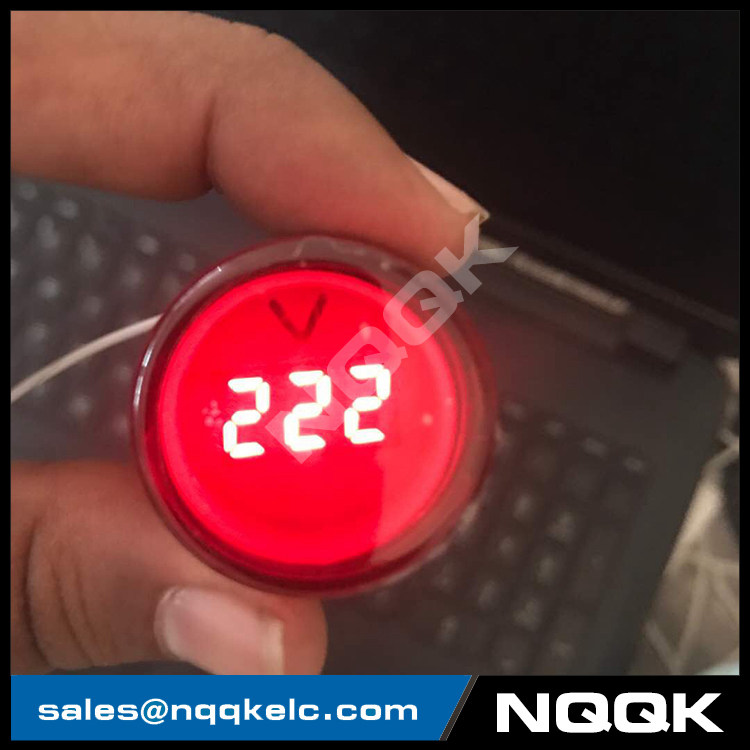 NO9995 Mini type digital display LED Digital Panel Voltmeter indicator type voltmeter
