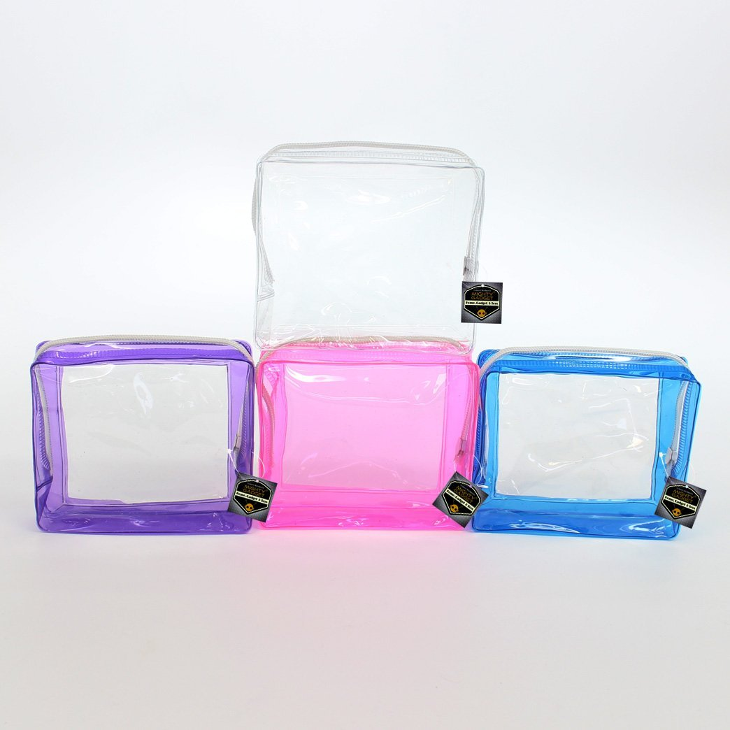 Buy 4 Pack Birthday Party Gift Favor Mini Clear Soft PVC Vinyl Pouch ...