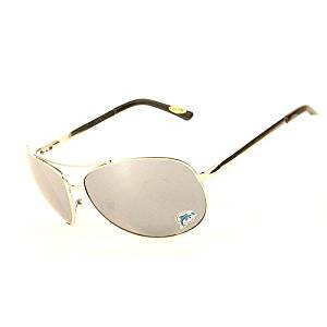 Miami Dolphins NFL Team Big Aviator Sunglasses - Mirrored Lenses - Hinged Arms