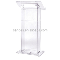 Floor Standing Modern Acrylic Pulpit/Church Podium/Acrylic Lectern