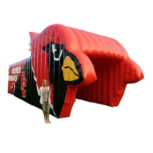 The latest design Cardinals football inflatable helmet tunnel shark helmet,wind tunnel china for sale