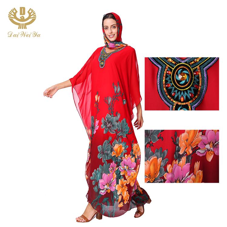 Moda Toptan Fiyat Müslüman Kaftan Abaya Elbise Kadınlar Için