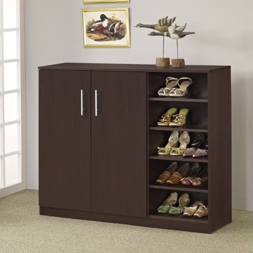 modern and simple wood shoe cabinet designs living room furniture