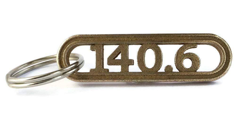 Triathlon Keychain - 140.6 Key Ring - Triathlete Gift - Swim Bike Run - Training Motivation - Finish Line Celebration and Inspiration - Tri Gear - Rugged Sports Key Chain