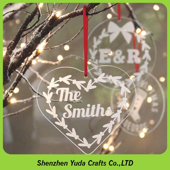 Personalised Engraved Perspex Christmas Decorations Laser ...