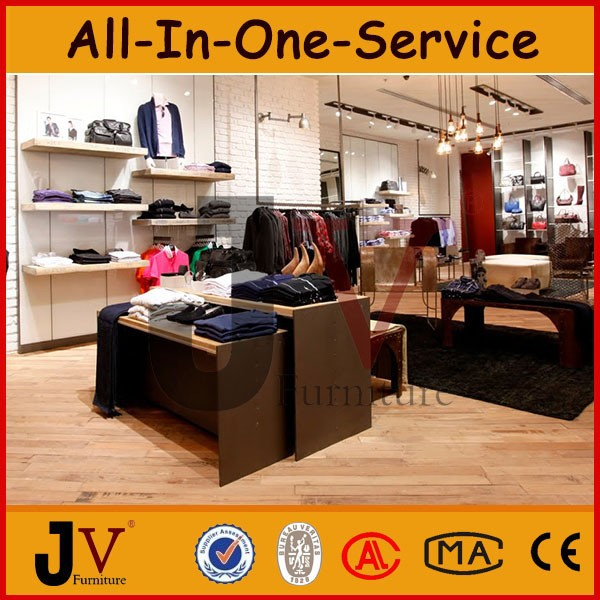 Modern clothing store fixtures and store showcase for men store