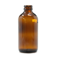 empty boston round amber glass bottle 250 ml bottle for cosmetic packaging