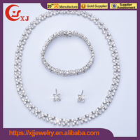 Nice Quality Cubic Zircon Arabic Bridal Jewelry Sets