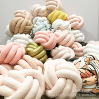 wholesale INS hot sale decorative nordic fashion knot ball pillow