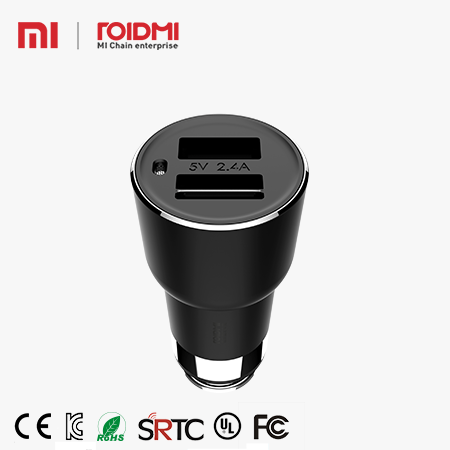 Xiaomi 5V,2.4A Roidmi 2S New FM transmitter Bluetooth 4.2 Micro USB Smart Car Charger Compatiable for Most Famous Phone Products