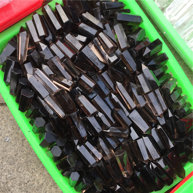 Wholesale Natural Raw Smoky Quartz Point Small Gemstone Crystal Wands