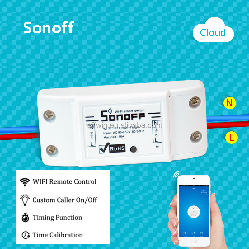 Sonoff Wifi Switch Universal Mobile Phone APP Remote Wifi Wireless Remote Control Time Socket Switch Smart Home 220V