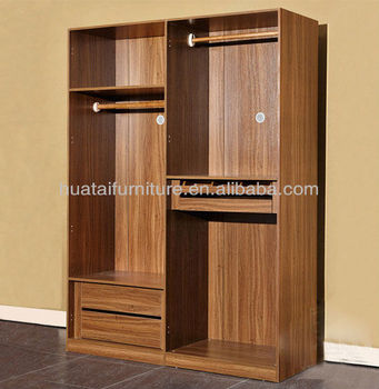 2 Door Hotel Sliding Wardrobes Furniture 2 Door Solid Wood Frame Wardrobe  Bedroom Furniture