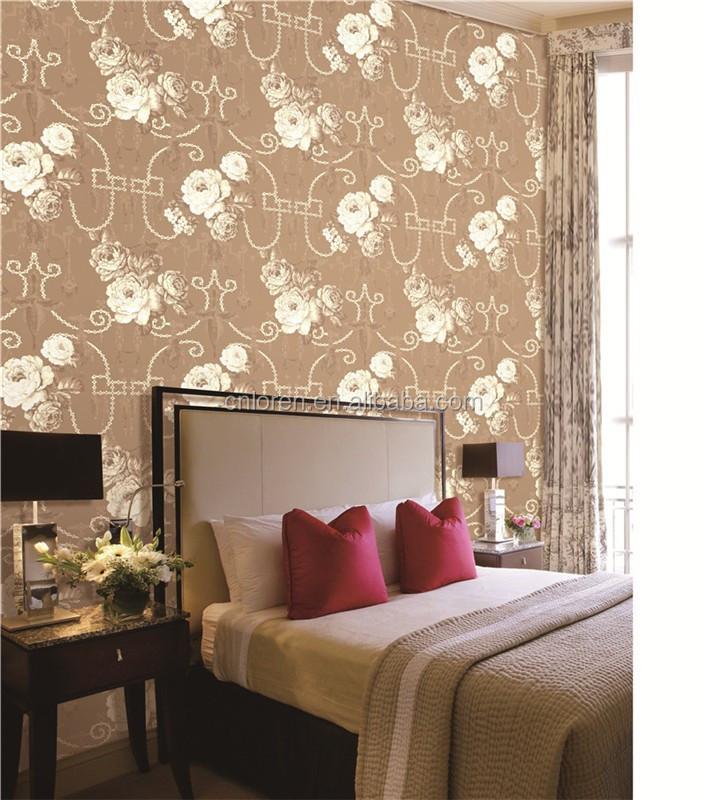 Loren Neueste Gold Dhaka Glitzereffekt Tapete Für Schlafzimmer ...