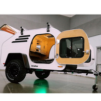 small mini retro lightweight teardrop camper trailer with bathroom