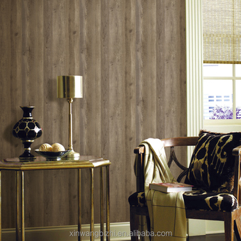 home decor wallpaper wood grain pvc vinyl wallpaper from china