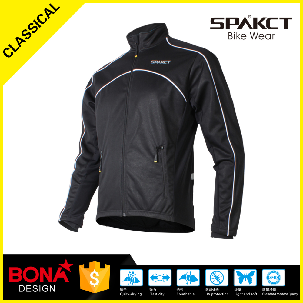 men sublimation printing MTB jacket black jacket fleece wind-proof sportswear