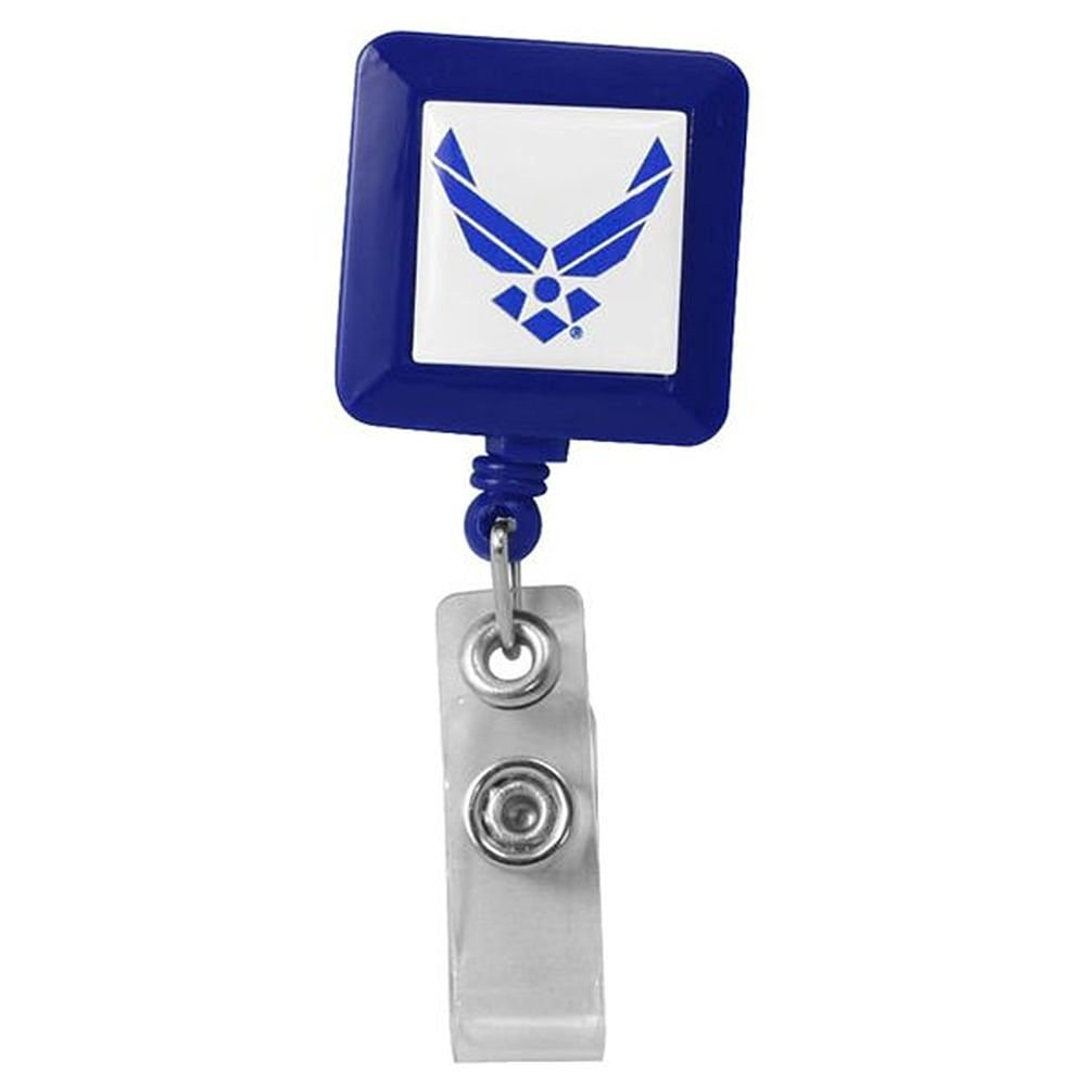 Air Force Retractable Square Badge Holder