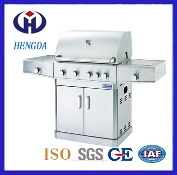 Cheap stainless steel outdoor gas bbq grill with oven for sale