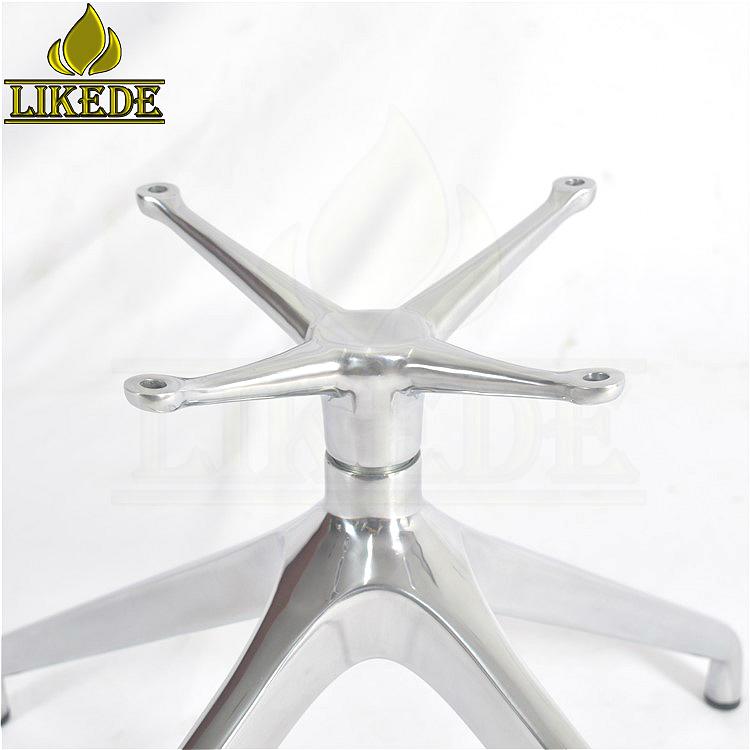 Le plus récent 4 étoiles en pente base pas cher meubles en métal canapé jambes 360 degrés pivotant base de chaise en aluminium canapé jambe