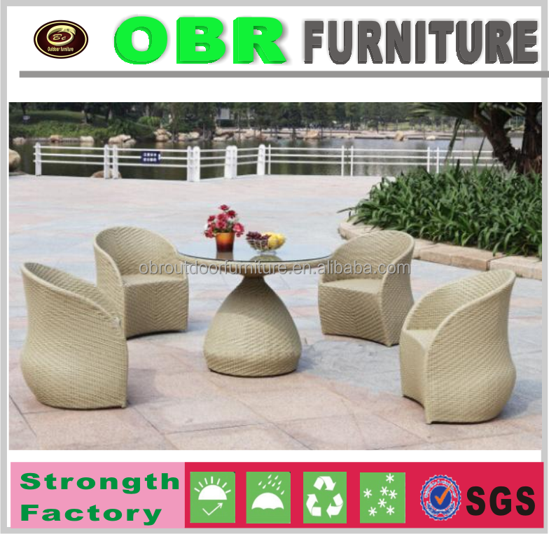 2107 Outdoor PE Rattan/Wicker Furniture Garden Dining Table Set Round Table