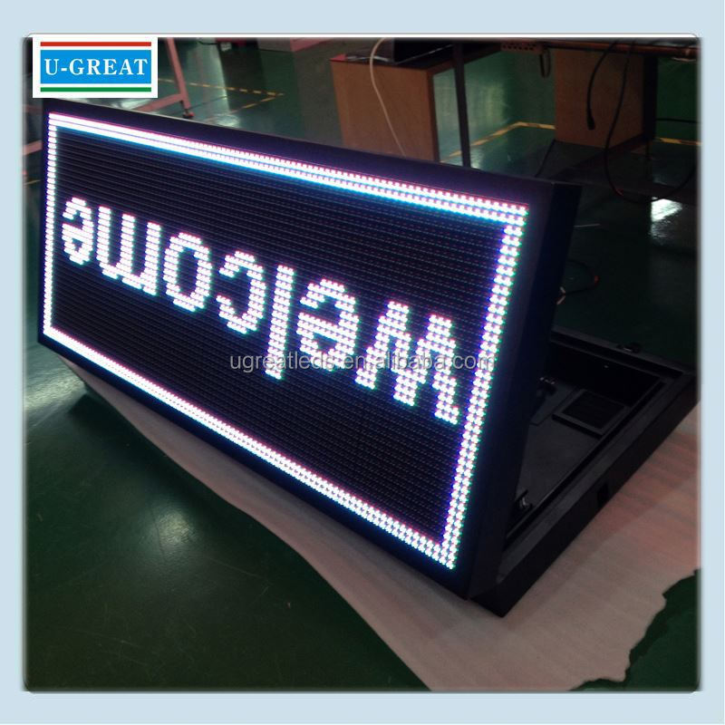 Transparent displays outdoor full color 3G led window sign