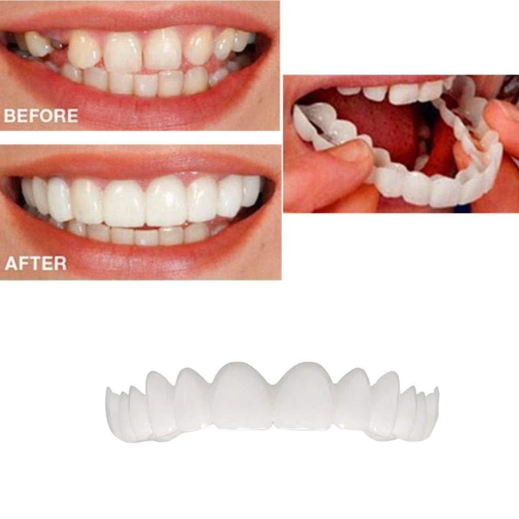 Fheaven (TM) Dental cover Instant Smile Comfort Fit Flex Cosmetic Teeth Denture Teeth Top Cosmetic Dental veneer