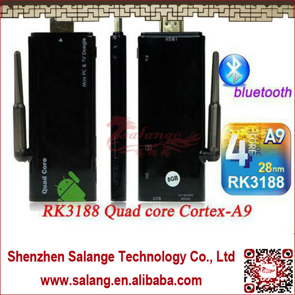Android4.2.2 RK3188 Quad Core Bluetooth4.0 External Antenna Android Usb Wifi <strong>Dongle</strong> By Salange