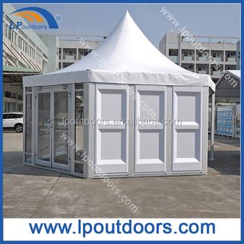Pavillon Extérieur Tente Pagode Hexagonale Avec Double Porte Vitrée Pour Le  Sport - Buy Tente Hexagonale Extérieure De Pavillon,Tente Hexagonale ...