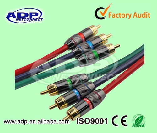 China providers hot sale CE ROHS best price high quality 3 rca to 3 rca cable