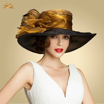 Unique Wide Brim Sinamay Fancy Ladies Wholesale Church Wedding Hats - Buy  Ladies Wholesale Church Wedding Hats d407cdc52ea