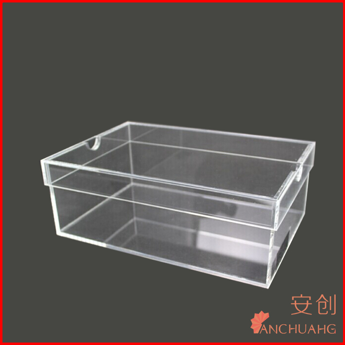 hot selling arcylic transparent shoes box with lid wholesale plexiglass sneaker box manufacturer