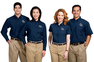 Popular logo print work uniforms