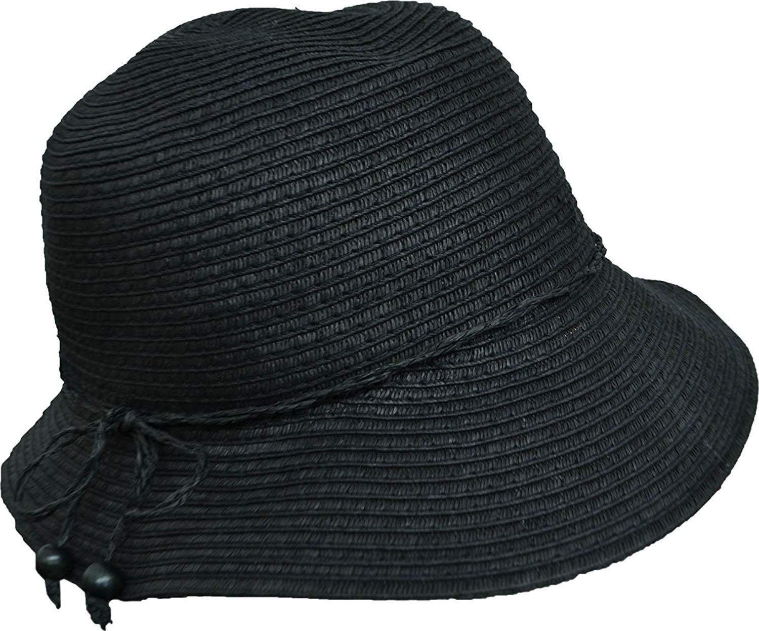e9585b86e7f Get Quotations · August Hat Co Women s Vintage Classic Cloche Hat Black