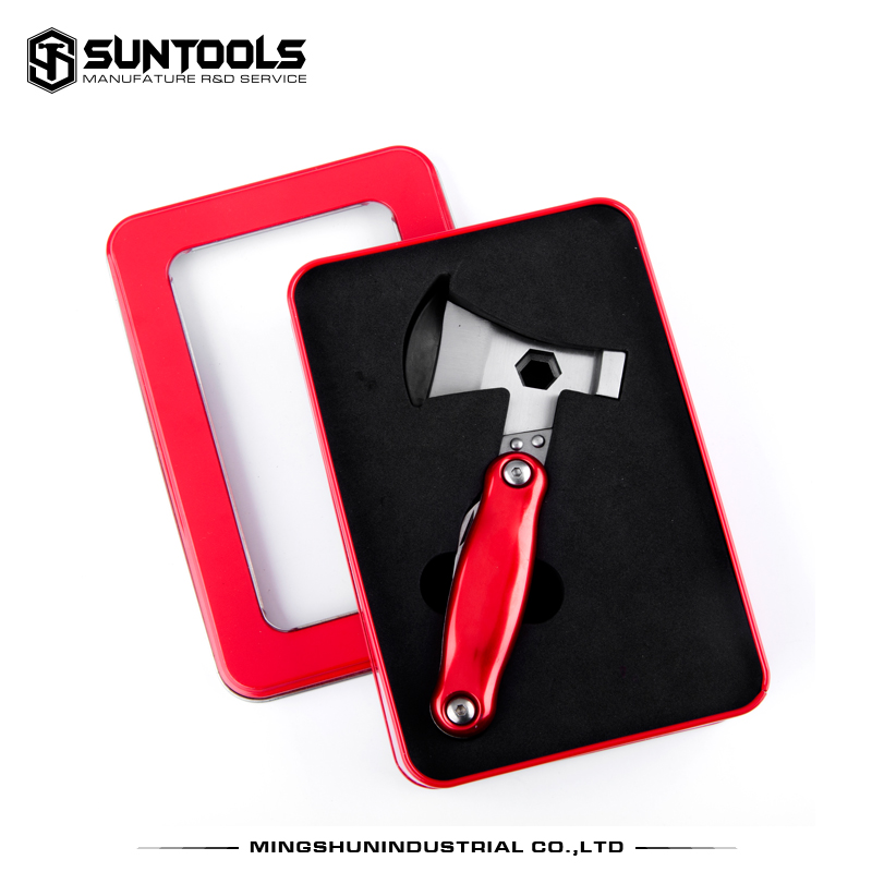 Suntools brand Man's outdoor camping functional foldable Axe hammer